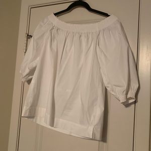 Trina Turk White Off the Shoulder Top!